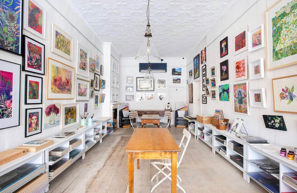 The inside of the Gallery within the shop